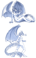 Weredragon Sketches by soulwithin465