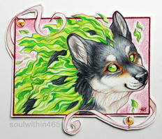 ACEO whitespiritwolf by soulwithin465