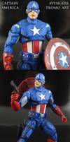 Custom Avengers Promo Art Captain America figure by Jin-Saotome