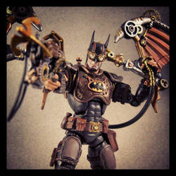 The Brass Knight, Steampunk Batman figure by Jin-Saotome