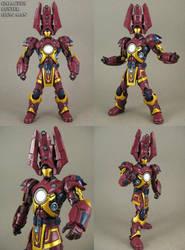 Galactus Buster Armor Iron Man Figure by Jin-Saotome