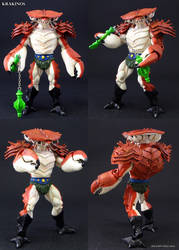 Custom Masters of the Universe Krakinos figure by Jin-Saotome