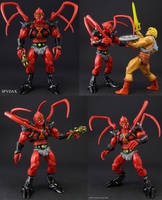 Custom Masters of the Universe Spydax figure by Jin-Saotome
