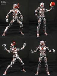 Ultron-Jarvis U5 custom Marvel Legends figure by Jin-Saotome