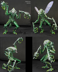 Custom Mantis Alien Kenner style figure by Jin-Saotome