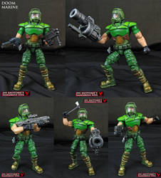Custom Doomguy action figure by Jin-Saotome