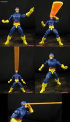 Custom Cyclops Legends figure with Optic Blast by Jin-Saotome