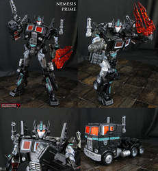 Custom Transformers Nemesis Prime action figure by Jin-Saotome