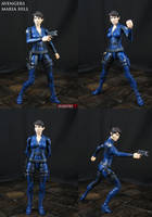 Avengers Maria Hill custom action figure by Jin-Saotome