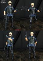 Custom Albert Wesker Resident Evil 5 figure by Jin-Saotome