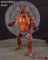 custom MOTUC Mandible Man concept action figure by Jin-Saotome