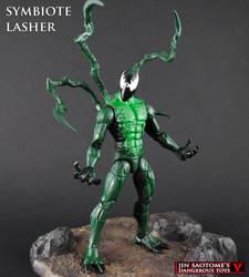 Custom Symbiote Lasher figure by Jin-Saotome