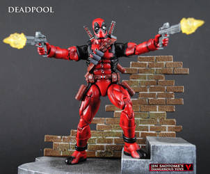 Custom Bowen style Deadpool figure by Jin-Saotome