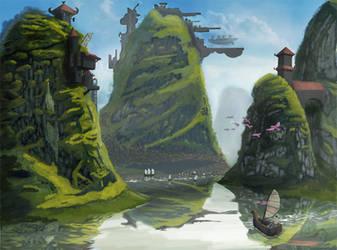 Landscape Concept Art by Mattlin