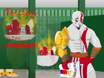 Kratos and Old Spice by CarsPs2V