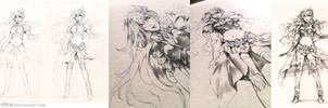 Sealiah drawing process by Pearlpencil