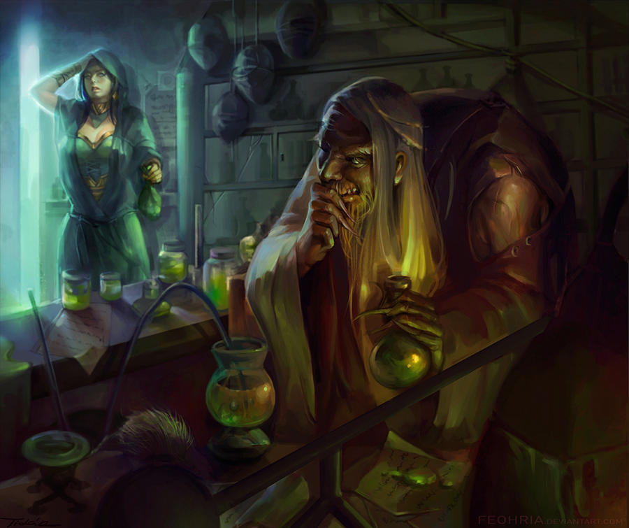 Elder Alchemist by Pearlpencil