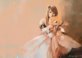 My Teddy Bear by Pearlpencil