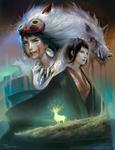 Princess Mononoke by Pearlpencil