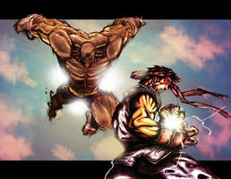 sagat vs. ryu by holyghost13th