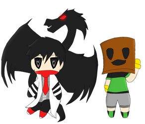 Calin and Boxman Chibis by TalonArtsdA