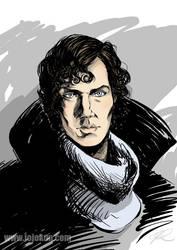Cumberbatch Sherlock by jojo-kun