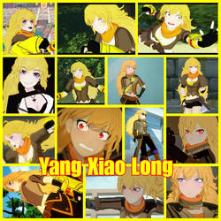 Team Rwby collage: Yang Xiao Long by Darkmegafan01
