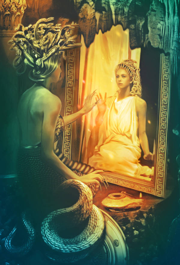 Gorgon Medusa. Mirror of memory by Incantata