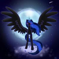 Mare of night - PRINCESS LUNA, NIGHTMARE MOON by YummiestSeven65