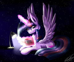 Nightime reading by YummiestSeven65