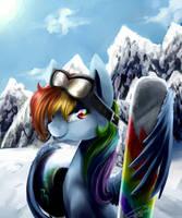 Rainbow Snowboarder Dash by YummiestSeven65