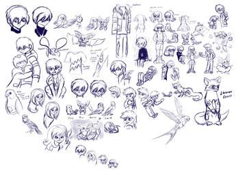 Sketchbook 1 by MoonRayCZ