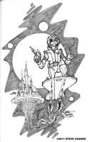 Space Ranger Sketch by SteveChanks