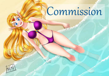 (Commission): Zelda Fanart 2/3 by Mazohyst-MoemixCloud