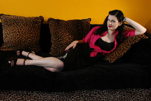 Girl on Couch Stock 1 by kristyvictoria