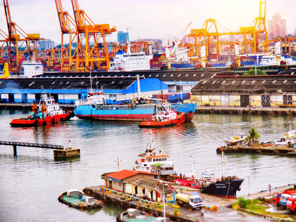 Port of Colombo by Tilantha-hansanath