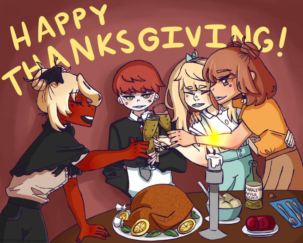 [COLLAB] Happy Thanksgiving! by PortraitRose