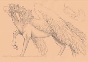 Winged Unicorn .sketch. by MystOfTheStars