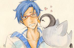 Penguin kiss by MystOfTheStars