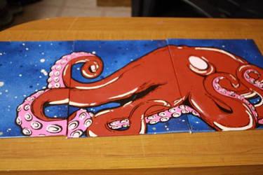 Octopussss Three Panel by Pinklaserguns