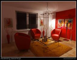 Living Room Night by Semsa