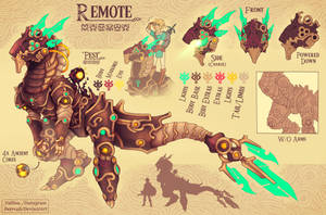 Remote (botw character idea) by DeerCub