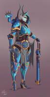 Tzeentch Sorceress Lord by CJ-Backman