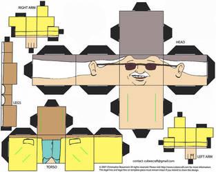 Stan Lee cubeecraft (Creator of the Iron Man) by IronManCubeecrafts