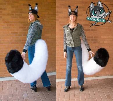 Bean Hat and tail by PocketWolfFursuits