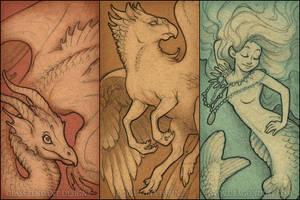 Vintage Mythos pendant designs by mirroreyesserval