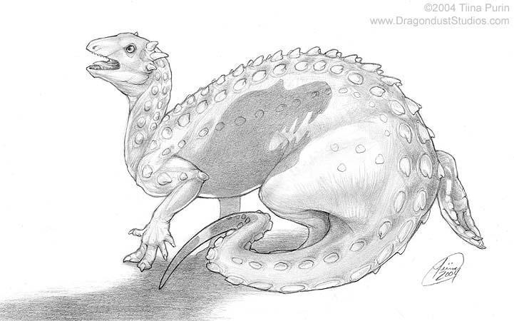 Scelidosaurus by mirroreyesserval
