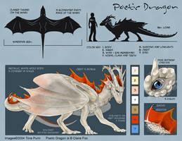 Poetic Dragon Model Sheet by mirroreyesserval