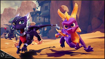 . [ Spyro Reignited Trilogy ] . Cynder by S-ketchi