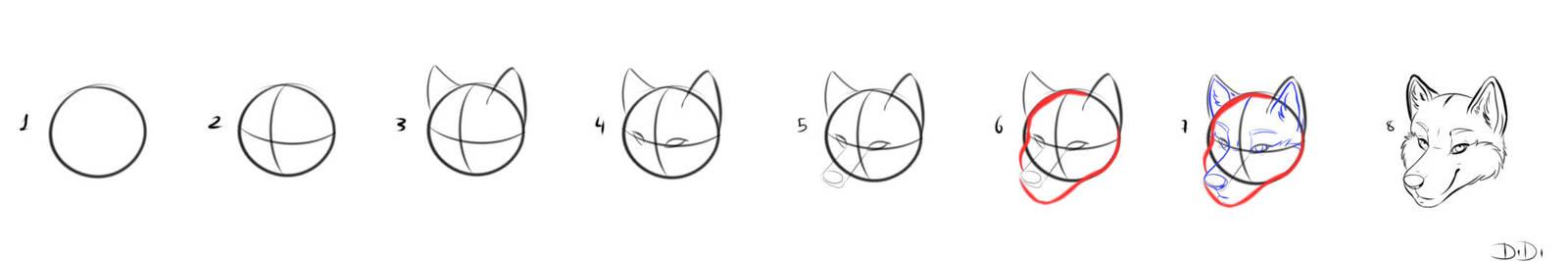 Como Dibujar Cabezas De Lobo O Caninotutorial By Daynaradesics On